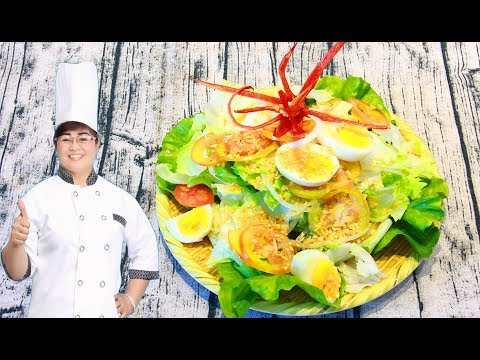 Salad Trộn - Cách làm Salad Trộn Dầu giấm CỰC NGON