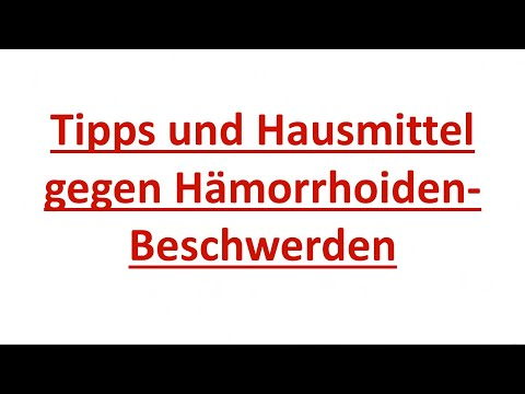 h morrhoiden hausmittel tipps gegen h morrhoiden beschwerden youtube. Black Bedroom Furniture Sets. Home Design Ideas