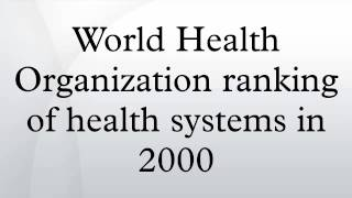 World Health Organization ranking of health systems in 2000