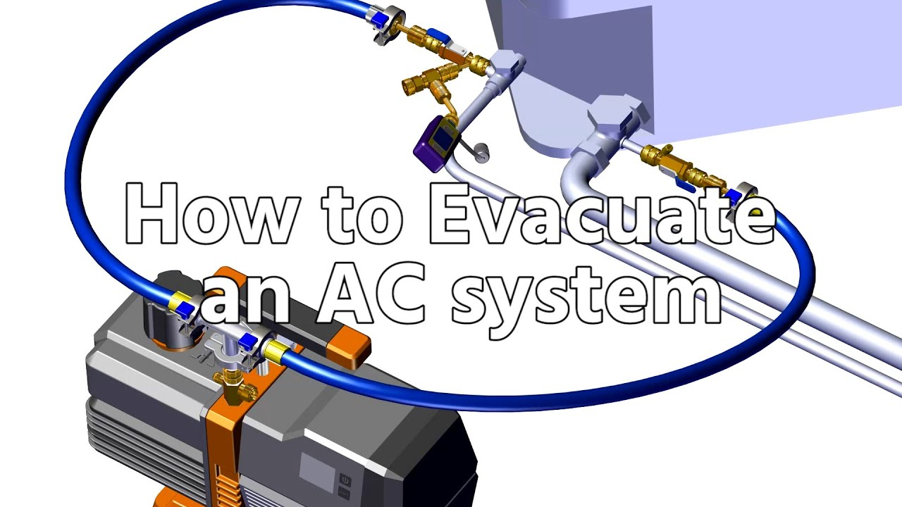 How to Evacuate an AC system, Full Vacuum Procedure - YouTube | Hvac Vacuum Pump Wiring Diagram |  | YouTube