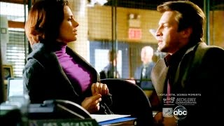 Castle 1x03 Moment: Castle Leans Too Close to Beckett (Hedge Fund Homeboys)