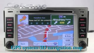 Cheap 2006-2012 Hyundai Santa Fe sat nav audio system with 3D and google MAP USB SD BT music