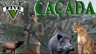 GTA V - Caçando animais perigosos no alto da Montanha