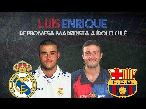 LUIS ENRIQUE Y SU FICHAJE DEL MADRID AL FC BARCELONA (1996)