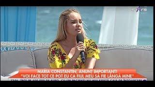 """Maria Constantin a făcut un anunț important! """"Vom face demersurile să îmi iau fiul"""""""