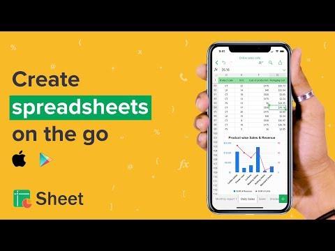 Zoho Sheet for mobile