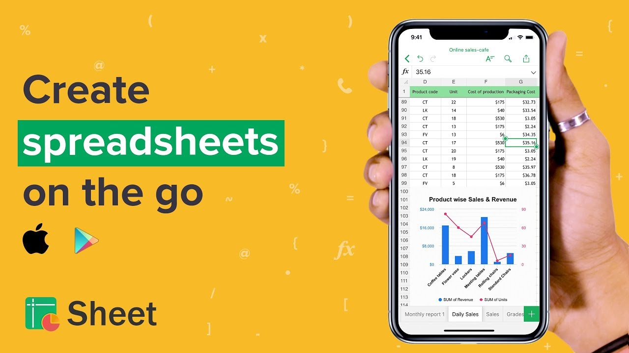 Zoho Sheet for Mobile - A cloud-based spreadsheet app with real-time