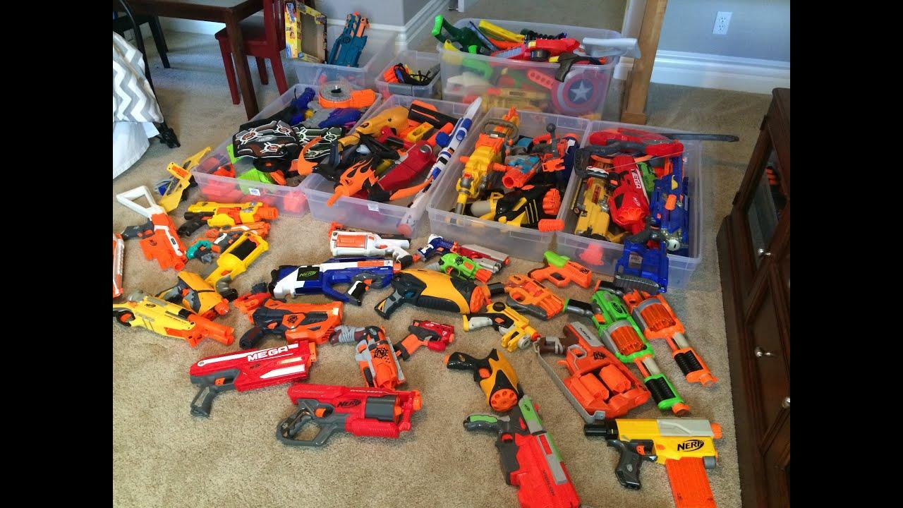Nerf Gun Arsenal MY HUGE NERF ARSENAL -...