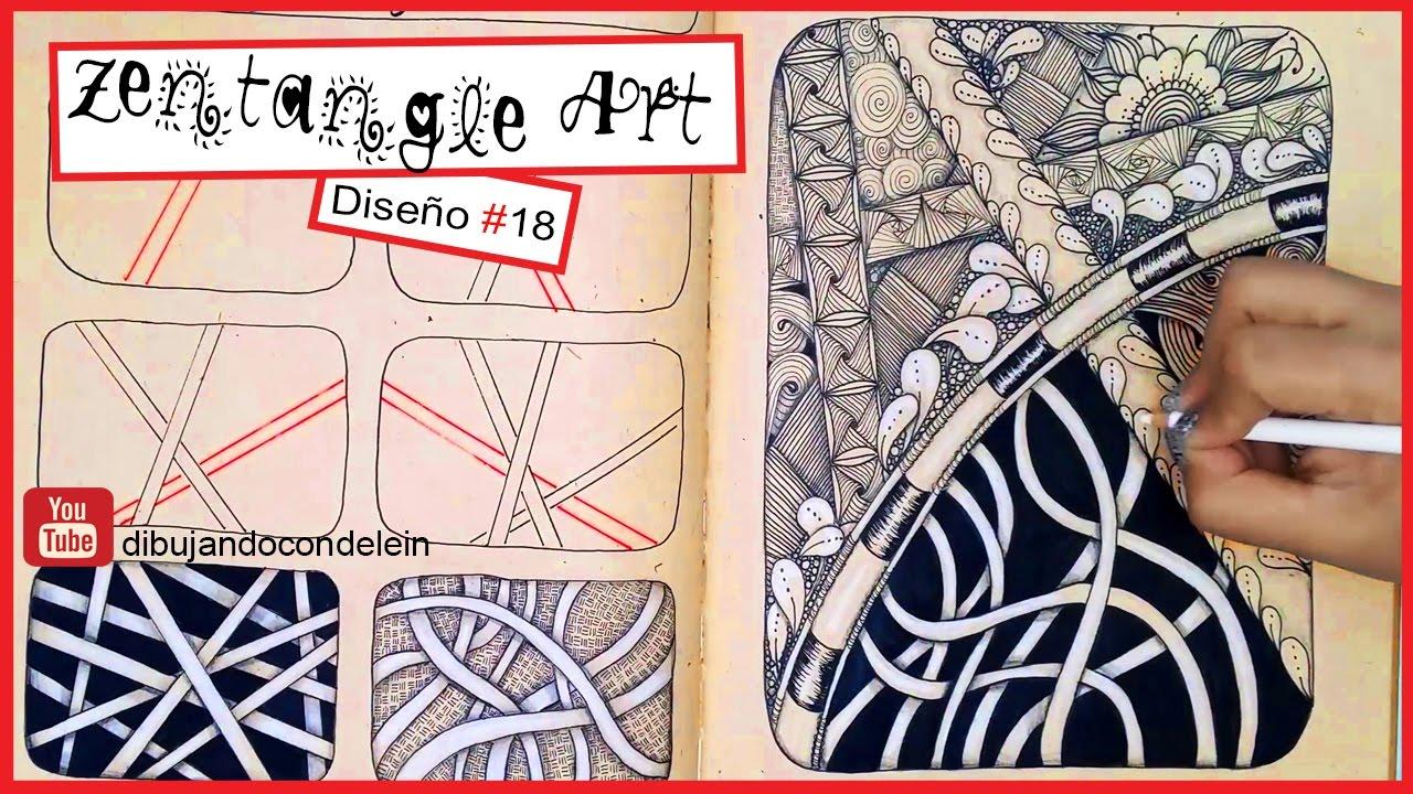 Como Dibujar Zentangle Art Paso A Paso Diseno 18 Zentangle Pattern