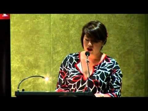 Eileen Chong reads her poem 'Moon Cakes' at the 2010 NSW Parliament Poetry Soirée
