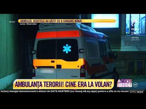 Ambulanța terorii! Panică în București. Cine era la volanul ambulanței