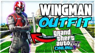 GTA 5 ONLINE 1.43 ✘ NUEVO TRAJE SKIN WINGMAN FORTNITE! MODDED OUTFIT【PS4/XboxOne/Pc】