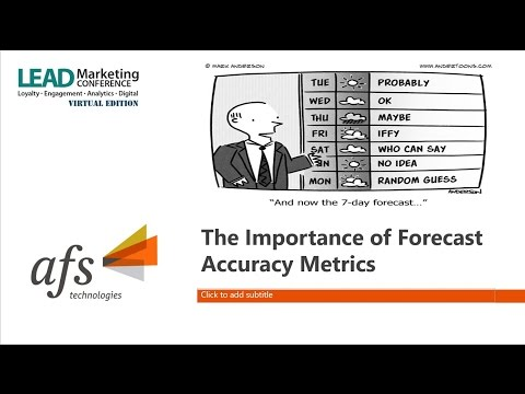 The Importance of Forecast Accuracy Metrics