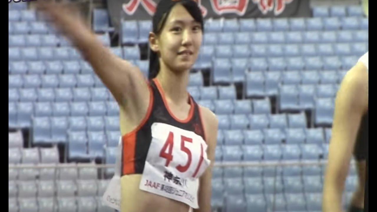 頼安乃々香14.23(,1.0)優勝 /2017ジュニアオリンピック陸上 A女子 100mYH 決勝 +表彰式