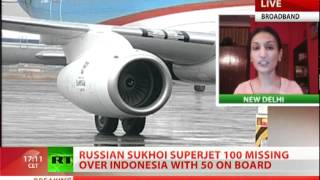 Russian Sukhoi SuperJet-100 missing on test flight in Indonesia