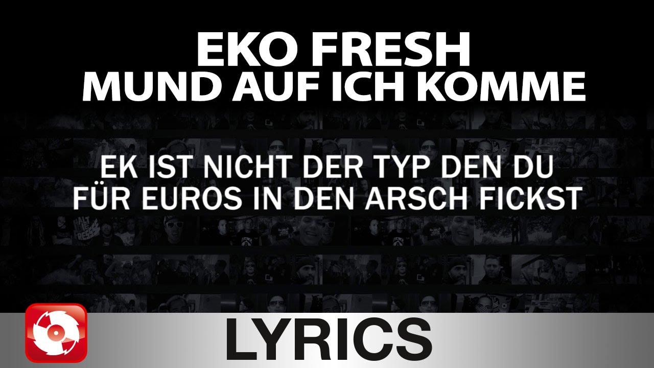 eko fresh mund auf ich komme aggrotv lyrics karaoke official version youtube. Black Bedroom Furniture Sets. Home Design Ideas
