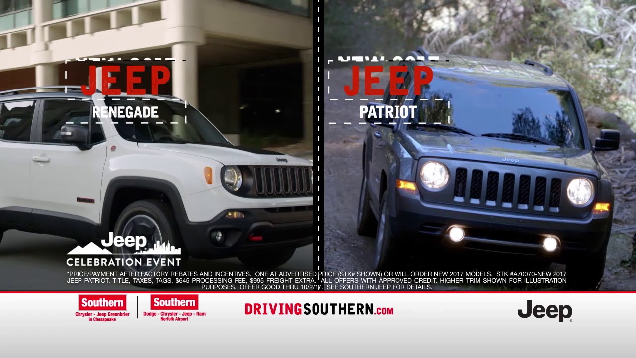Southern Chrysler Jeep >> Southern Chrysler Jeep September Commercial Youtube