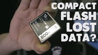 lost data on compact flash card | CF card data recovery