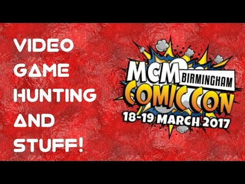 Birmingham NEC MCM Comic Con 2017 ~ Game Hunting! Short clip of random goings on and trade stalls...