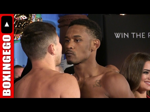 (WOW!!) GOLOVKIN VS. JACOBS INTENSE FACE-OFF JUST THE ACTION | DANIEL JACOBS GIVES GGG CRAZY EYE