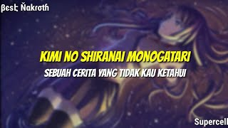 Cover images Kimi no Shiranai Monogatari - Supercell (Lyrics - Terjemahan Indonesia)