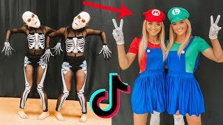 Recreating VIRAL TIK TOK challenges with my TWIN!