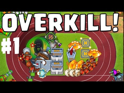 OVERKILL! || BLOONS TOWER DEFENSE 5 Co-Op #1 || Let's Play BTD 5 ...