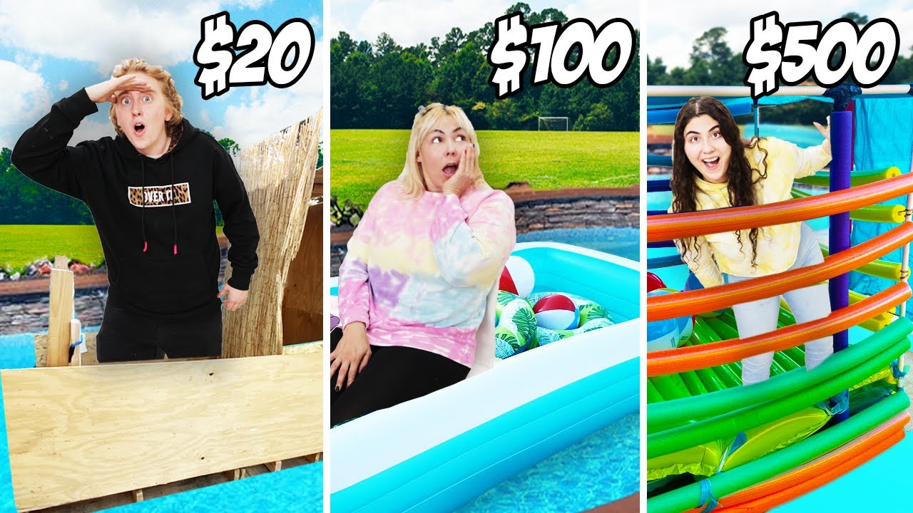 BEST FLOATING HOUSE ON A BUDGET CHALLENGE! $20 VS $500