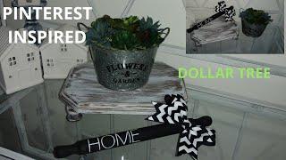 Diy pedestal stand / diy Rae Dunn rolling pin / diy succulent planter / diy farmhouse decor
