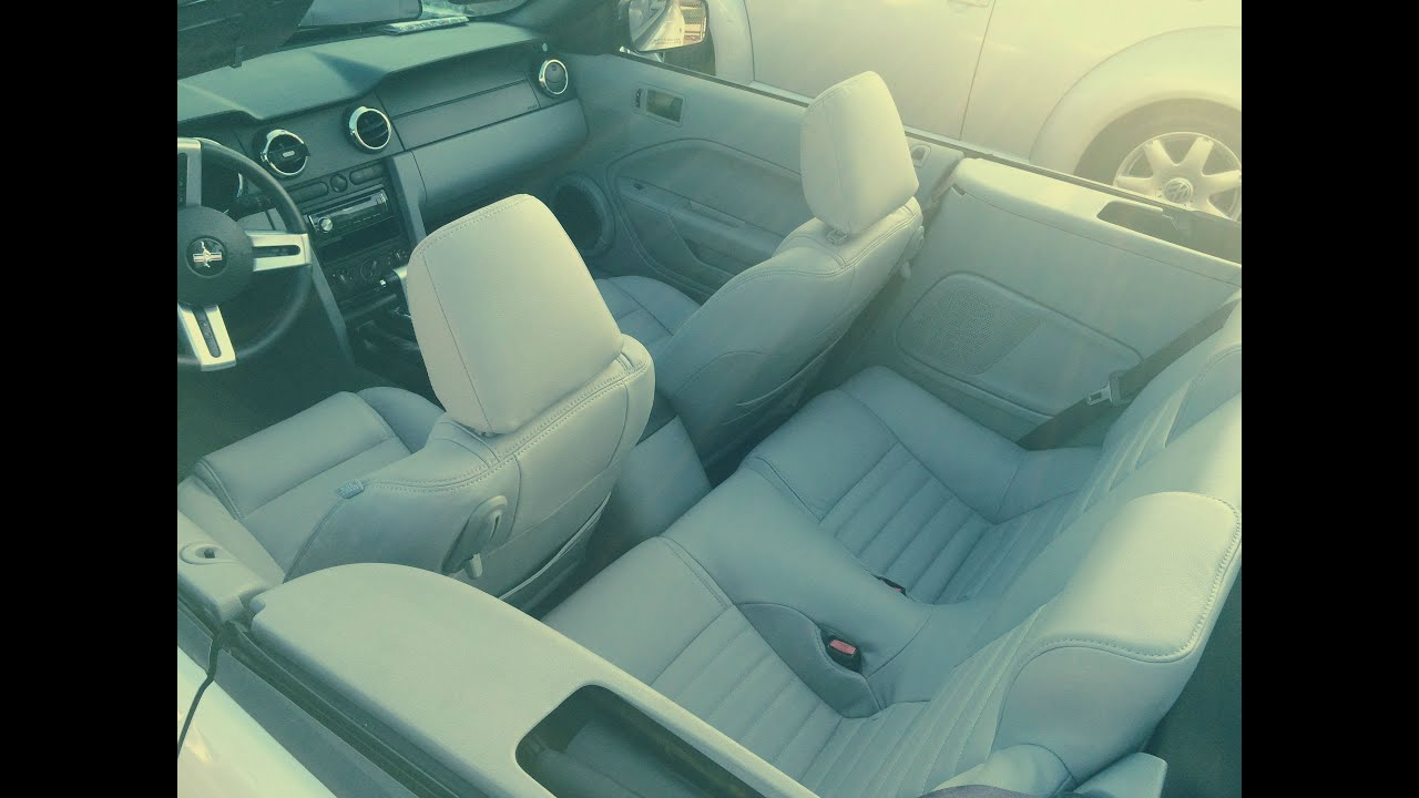 Ford Mustang leather covers installation