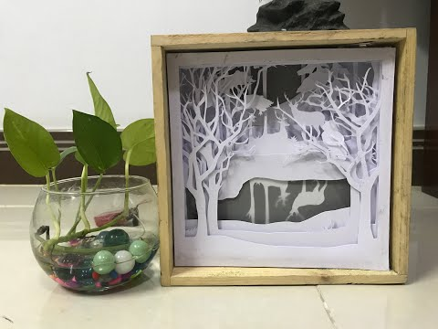 DIY Paper cut - How to make Light Box - Forest