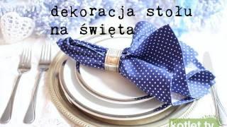 Jak udekorować stół na święta - niedrogo - Kotlet.TV