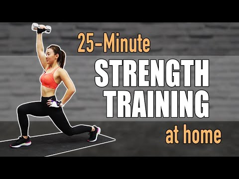 25-Min Strength Training at Home for Women to Lose Weight | Joanna Soh