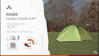 VAUDE інструкція Кампу-Гранді 3-4р | VAUDE