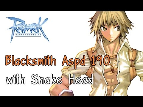 Battle Smith พ่อค้าสายบู๊ #12 Bs aspd 190 ด้วยหมวกงู