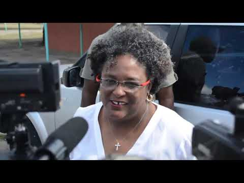 Opposition Leader Mia Mottley heading to vote