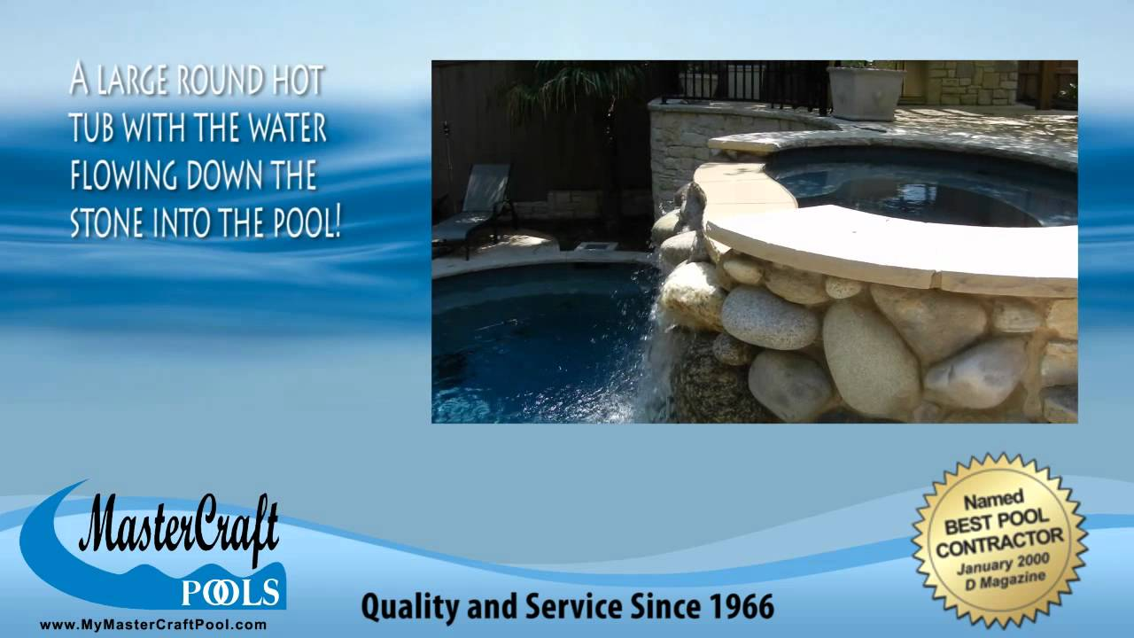 Jacuzzi Pool Youtube Mastercraft Pools Of Dallas Swimming Pool Video Stone Hot Tub