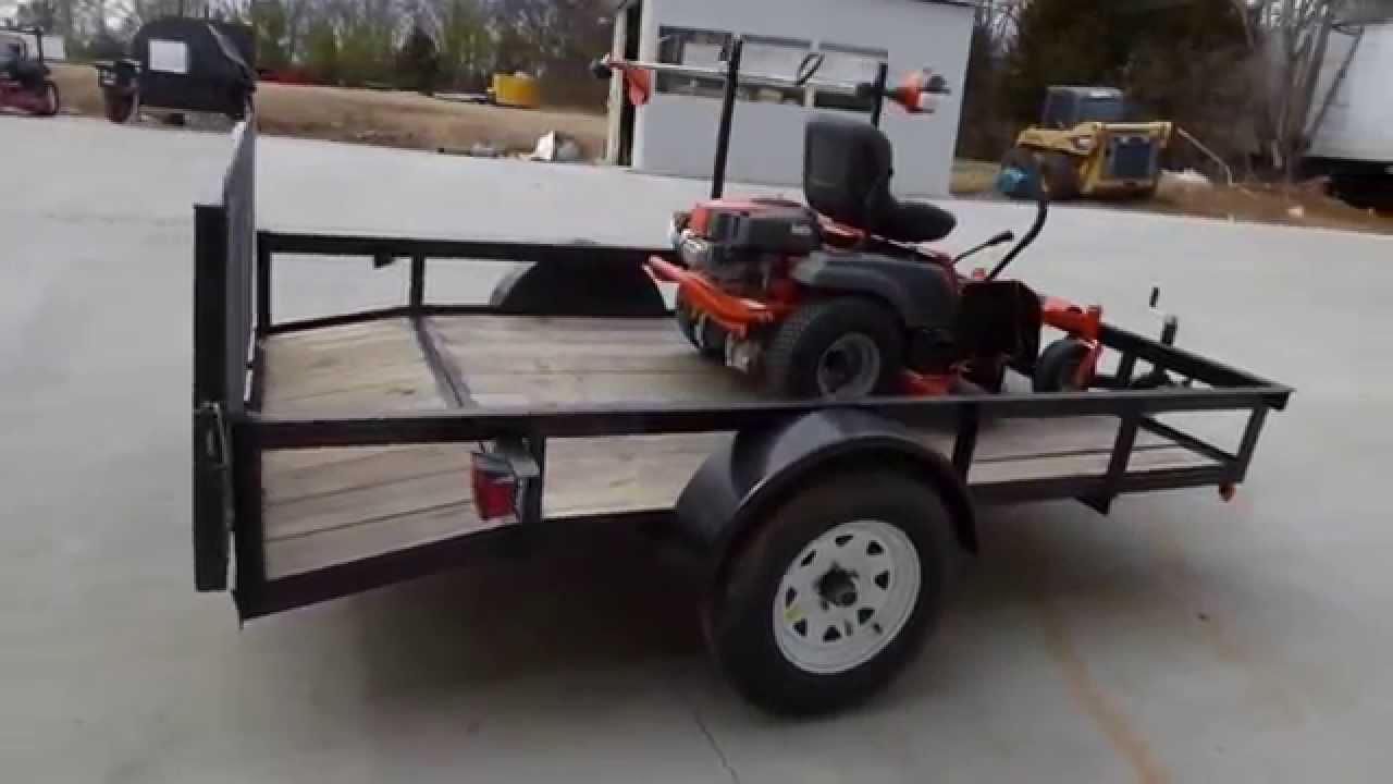Lawn Mower Utility Trailer : Husqvarna rz zero turn lawn mower utility trailer