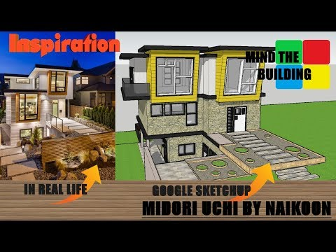Google SketchUp Speed Build - Modern Residential Home - Inspired of Midori Uchi by Naikoon