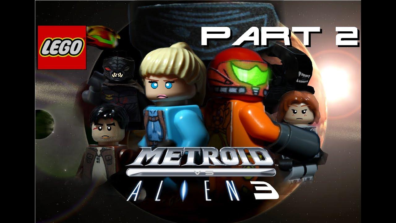 LEGO METROID VS ALIEN 3 PART 2 - YouTube