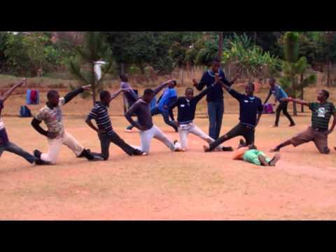 eLangeni Secondary School boys dance team practicing for the championship