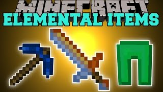 Minecraft: ELEMENTAL ITEMS MOD (THE POWER OF THE ELEMENTS!) Mod Showcase