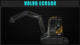 Volvo ECR580 🚩 New Mod Release 🚩 ✔ Farming Simulator 2019 ✔ FDR Logging