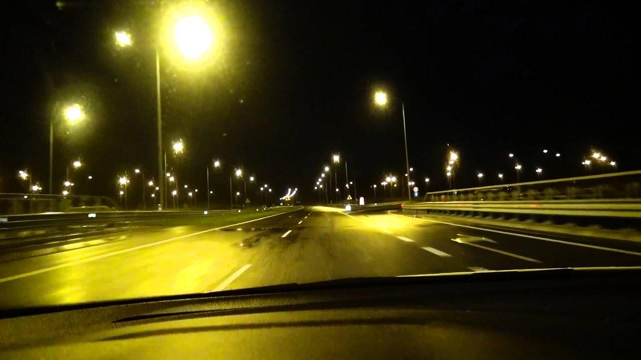#59 Ночная дорога - Краков, Польша | Night road - Krakow ...