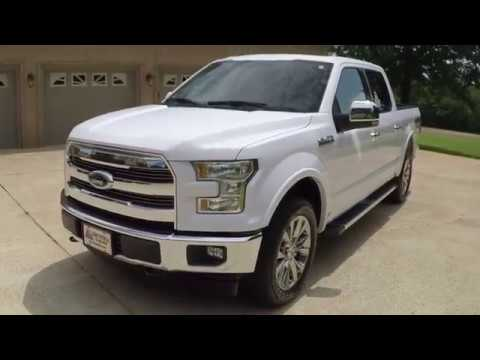 West TN 2017 Ford F150 Lariat 4X4 White V8 for sale info www sunsetmotors com