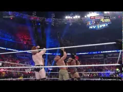 Ryback, Sheamus & John Cena • Triple Vertical Suplex