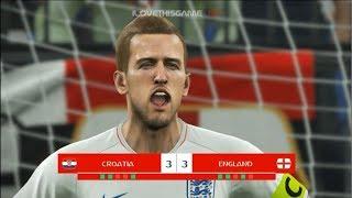 Croatia vs England I Semi Final FIFA World Cup 2018 I PES 2018 Penalty Shootout