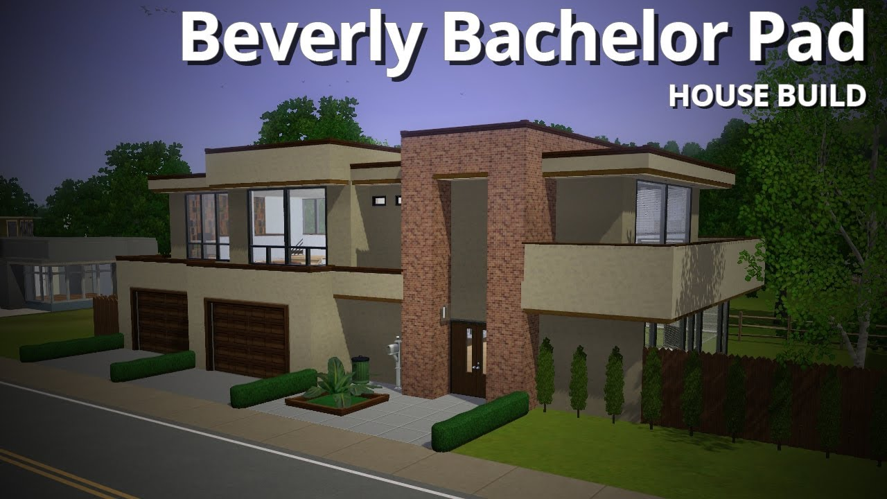 The sims 3 house building beverly bachelor pad base for Building builder online