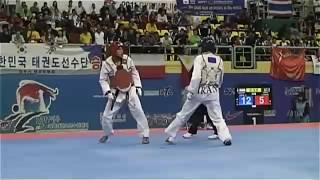 Rohullah Nikpa AFG VS Mohammad Bagheri Motamed IRI 2011 world taekwondo championships Round3