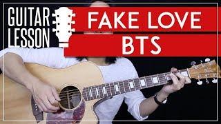 Fake Love Tutorial - BTS (방탄소년단) Guitar Lesson 🎸 |No Capo + Easy Chords + Guitar Cover|